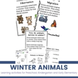 Winter Animal Activities for Preschoolers & Kindergarten