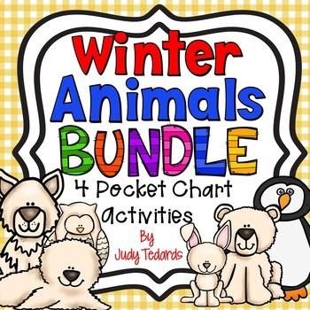 Winter Animal Bundle (4 Pocket Chart Activities)