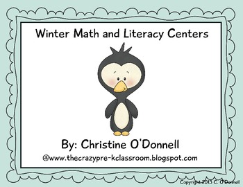 Winter Animal Centers: 10 math and literacy centers!