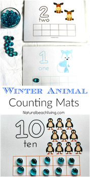 Winter Animal Counting and Play Dough Mats