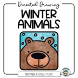 Winter Animal Directed Drawing - Distance Learning Art Activity