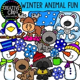 Winter Animal Fun {Winter Clipart}