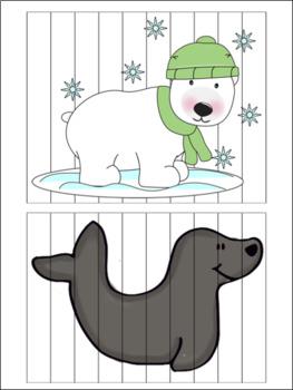 Winter Animal PreK Puzzle Pack