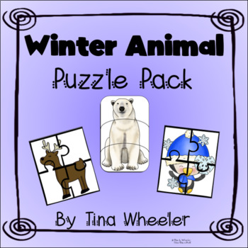 Winter Animals Puzzle Pack ~ Math Games ~ Math Centers