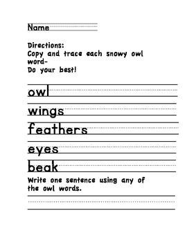 Winter Animal Writing Set