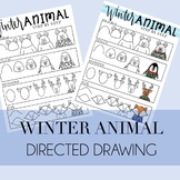 Winter Animal in Sweaters Directed Drawing Step By Step