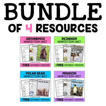 Nonfiction Winter Animal Unit Bundle