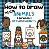 Winter Animals A How to Draw Directed Drawing Activity