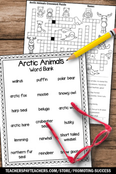 Arctic Animals, Winter Activities, Emergency Sub Plans, Science Research Project