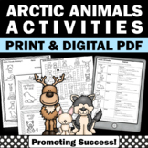 Arctic Animals Unit, Winter Science Worksheets, Emergency Sub Plans
