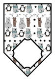 Winter Animals, Classroom Décor, Blank Pennant Banner/Bunting, for all languages