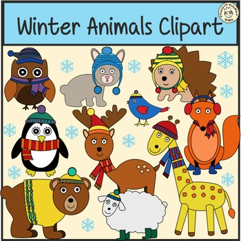 Winter Animals Clipart