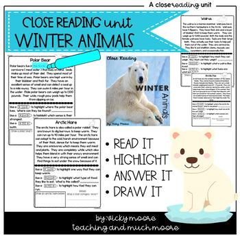 Winter Animals Close Reading