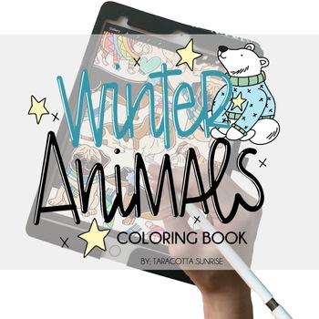 Winter Animals Digital Coloring Book by Taracotta Sunrise