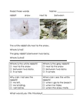 Winter Animals Hibernate and Migrate Reading Comprehension