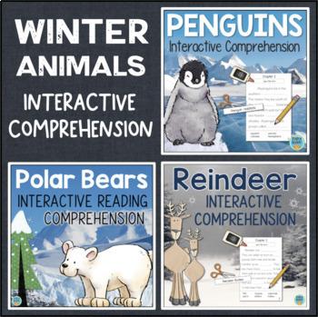 Winter Animals Interactive Reading Bundle: Penguins, Polar Bears, Reindeer