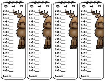Winter Animals Math Fact Fluency Unit