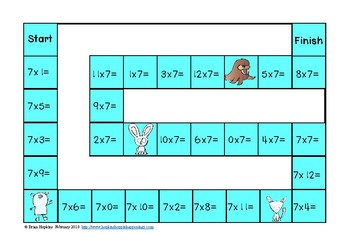 Winter Animals Multiplication Facts Games
