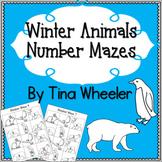 Winter Animals Number Mazes ~ Math Games ~ Math Centers