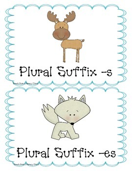 "Winter Animals - Plural Suffix ""s"" and ""es"""