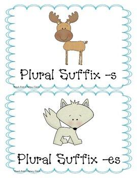 "Winter Animals - Plural Suffix ""s"" and ""es"""