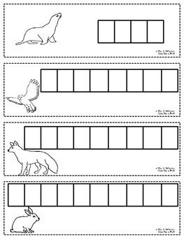Winter Animals Word Cards
