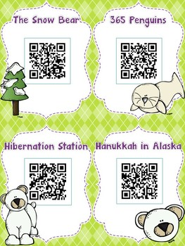 Winter Animals QR Codes: 16 Stories for Listen to Reading Centers