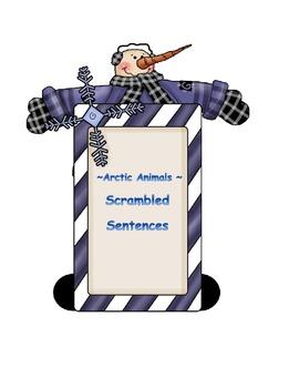 Winter Animals * Scrambled Sentences *