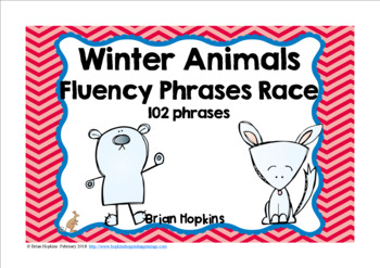Winter Animals Sight Word Fluency Phrases Race