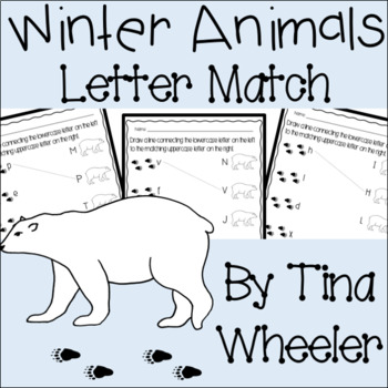 Winter Animals Uppercase and Lowercase Letter Match