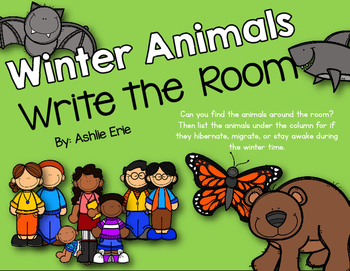 Winter Animals Write the Room
