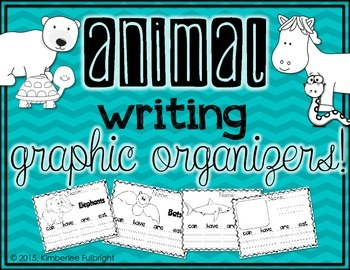 Animal Writing Graphic Organizers