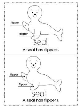 January Kindergarten / First  - Winter Emergent reader -  Animals