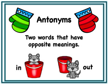Winter Antonym Mitten Match