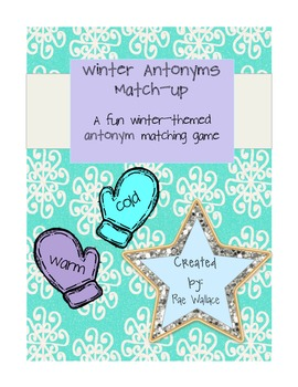 Winter Antonyms Match-Up