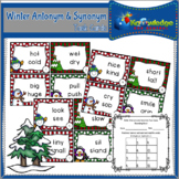 Winter Antonyms & Synonyms Task Cards