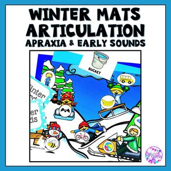 Winter Apraxia Syllables and Early Sound Articulation Dough Mats