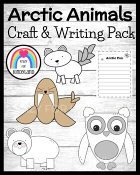 Winter / Arctic Animal Craft & Writing Pack: Fox, Polar Bear, Walrus, Snowy Owl