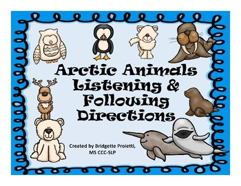 Winter/Arctic Animals - Following Directions NO PREP