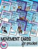 Winter Arctic Animals Movement Cards for Preschool and Brain Break