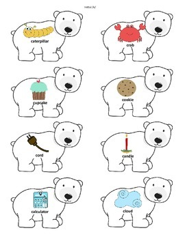 Winter Arctic Articulation Words: /s/ blends, /k/, /g/