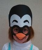 Winter Arctic Penguin Sentence Strip Hat Mask