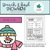Winter Arctic: Snowman Search & Find Worksheets