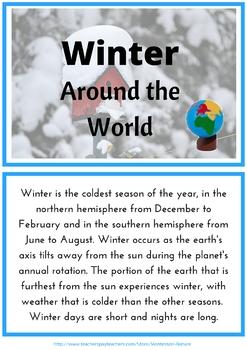 Winter Around The World Montessori Inspired Printable