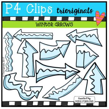 Winter Arrows  (P4 Clips Trioriginals Digital Clip Art)
