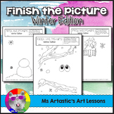Winter Art Activity: Finish the Picture!