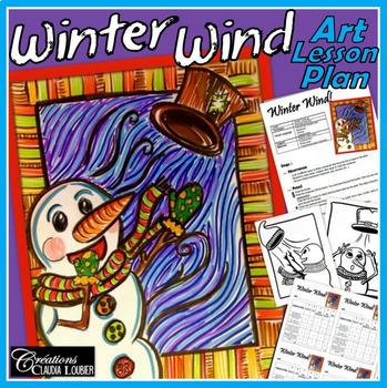 Winter Art Activity: Winter Wind, Christmas