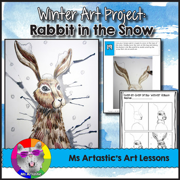 Winter Art Lesson, Rabbit in the Snow