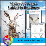 Winter Art Project, Rabbit in the Snow