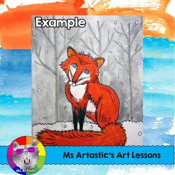 Winter Art Lesson, Red Fox in the Snow